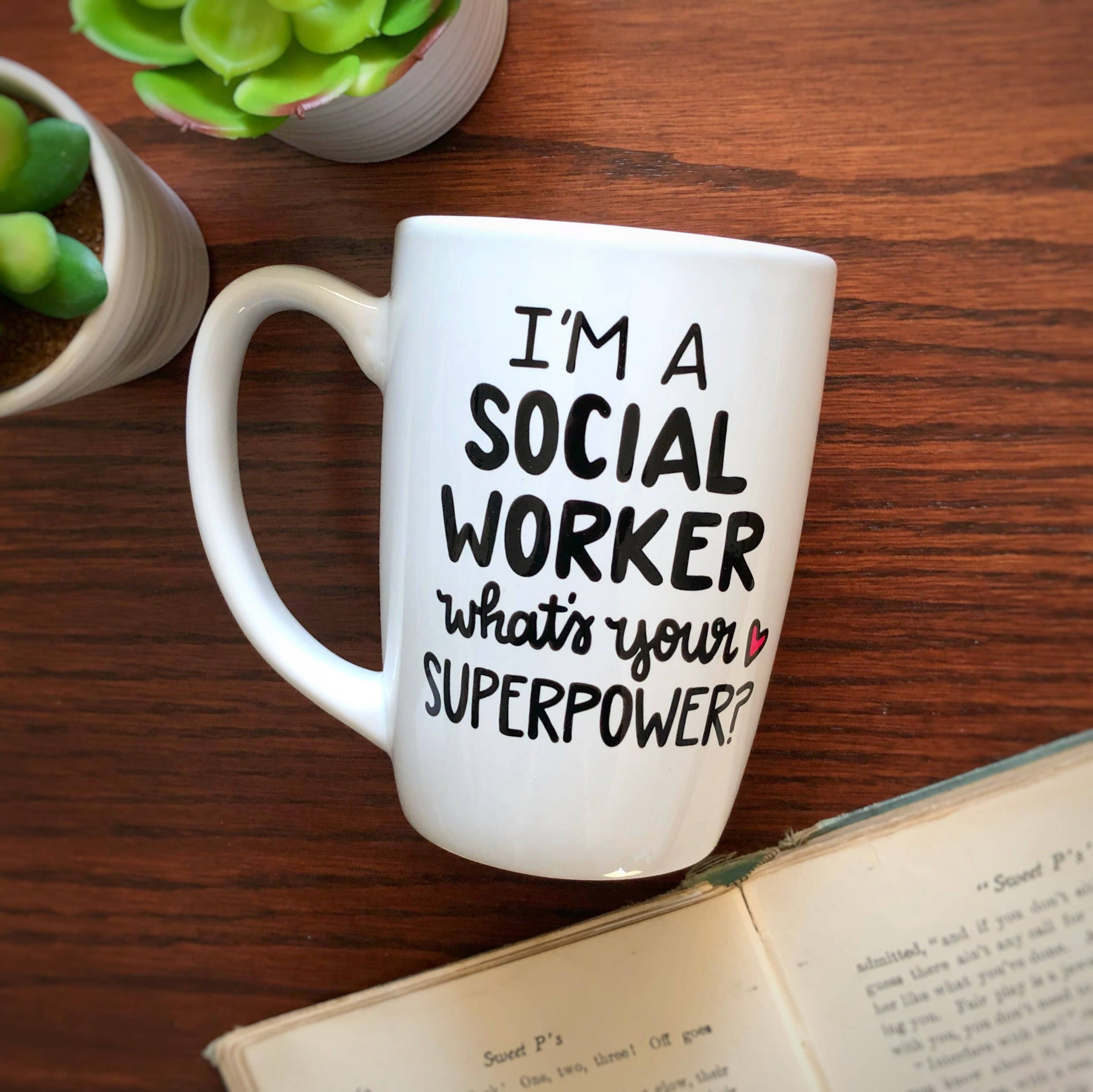 Social Worker Coffee Mug I M A Social Worker What S