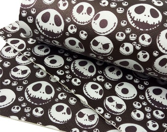 Skulls, Pattern, Faux Leatherette Sheet, Size 8 x 13in, Synthetic, Leather, Pleather, Craft, Hairbow
