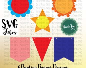 Bunting SVG, Banner, Flags Party Banner, Wedding, Birthday, Celebration, Cut file, Bunting Clipart, For Cricut, Silhouette, Svg Dxf Png Jpeg