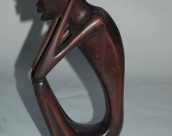 Hand Carved African Ebony Wood Sculpture