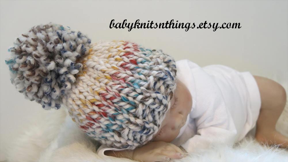 Verkauf Neugeborenen Babymütze Pom Pom Mütze stricken Baby