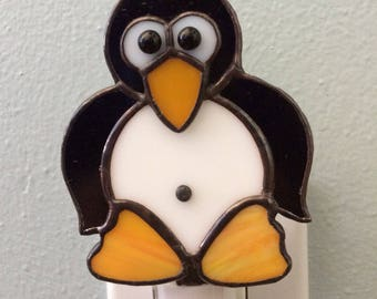 Stained Glass Penguin Night Light