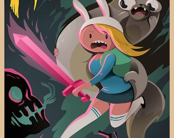ADVENTURE TIME Fionna and Cake Poster Wall Art