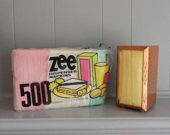1970's Copper Diner Style Napkin Dispenser with Zee Paper Napkins