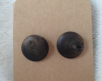 Brown Circle Earrings
