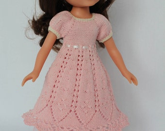 Pink BELLA DRESS  for Paola Reina, Hearts For Hearts or Corolle Les Cheries
