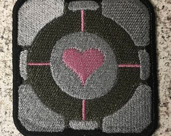 Iron-on Patch: Weighted Companion Cube