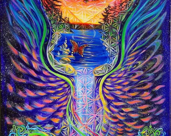 Mystic Rising ~ Prints ~ Painted Live w/ Mike Love during mystic Rising Ashland Or. 2017