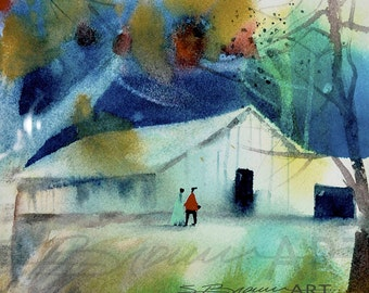 Barn Outing Canvas Art, African American Art, Contemporary Art, Canvas Art, Home Decor Art, Canvas Landscape Art, Canvas Print