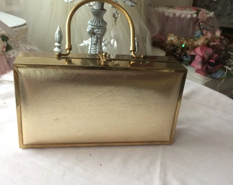 Gold Metallic and Brass Handbag