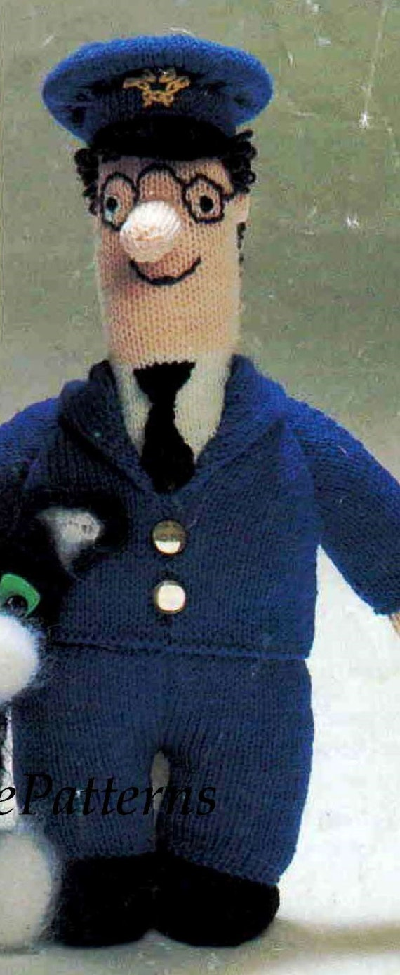 Postman pat and cat knitting pattern toy postman pat postman pat and cat knitting pattern toy postman pat pdf knitting pattern vintage soft toy doll pattern super gift dt1010fo
