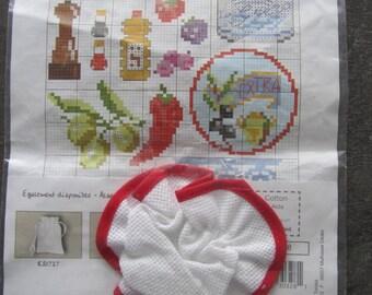 from DMC - top of jar - charlotte customize cross stitch