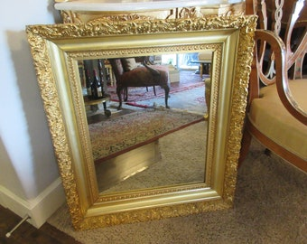 GOLD LEAF MIRROR Wall Hanging