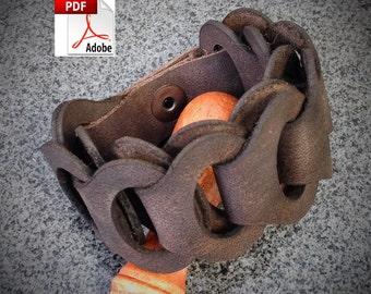 PATTERN - Leather Link Bracelet Pattern / Leathercraft Pattern / Bracelet Pattern / Leather pattern / DIY Pattern