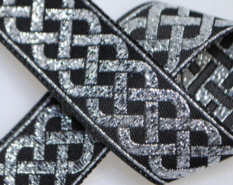 Celtic Knot Jacquard Trim 20mm wide - Two, Five, or Ten Yards
