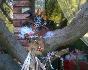 Prayer Feather Fan used for Palo Santo Ceremonies