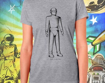 The Day the Earth Stood Still / Gort the Robot in Black / Women's Gray Performance T-Shirt