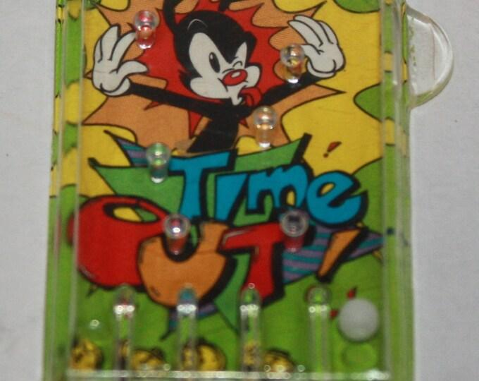 Animaniacs Time Out Mini Pinball Game Cracker Jack Prize 1996