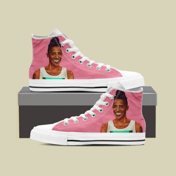 Shoes Barack Custom Custom Top Obama Custom Custom Obama Obama Obama Shoes Sneaker Converse Barack High Converse Feminist President Czqpw87F