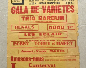1950's French poster