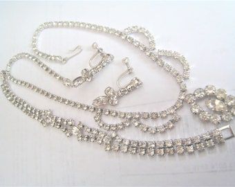 Three Piece Rhinestone Necklae Set