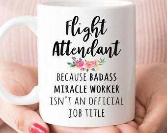 Gift For Flight Attendant, Funny Flight Attendant Appreciation Coffee Mug  (M568)