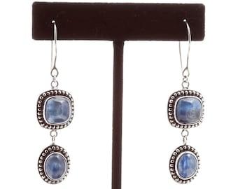 Kyanite 131 - Earrings - Sterling Silver & Kyanite