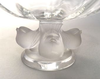 Lalique Crystal Bowl - Nogent Bowl - Lalique Crystal - Bowl with Birds