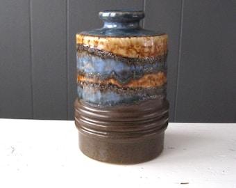 Vintage VEB Haldensleben Pottery Vase Pattern 2914, Mid Century Modern East German Ceramic, GDR, DDR, Modern, Keramik