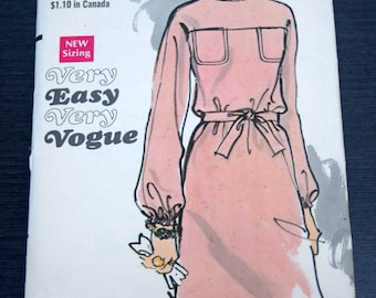 Vogue 7636 Misses Dress Size 14 Bust 36 Sewing Pattern Cut but Complete 1960s  Loose Fitting Straight Dress