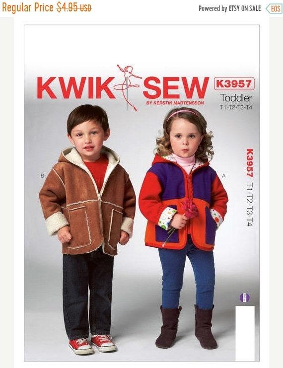7537ba548 pattern Kwik Sew 3957 Toddlers  Hooded Jackets Sewing Patern