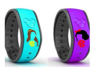 Disney Princess Magic Band Decal, Belle and Snow White Decal, Disney Acessories