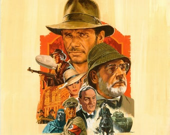 Indiana Jones, Indiana Jones Prints, The Last Crusade, Indiana Jones Wall Art, Indiana Jones Art Print, The Last Crusade Wall Art Print