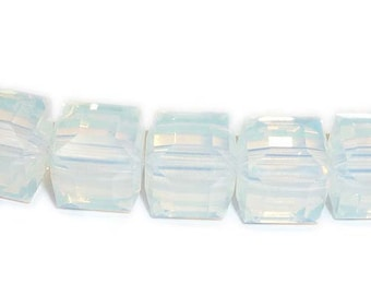 White Opal 5601 Swarovski Elements Crystal Cube Bead (4mm, 6mm, 8mm)