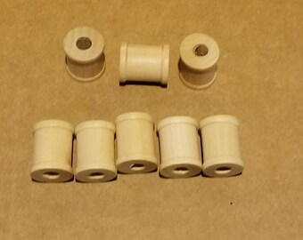 8 - 5/8 Inch Wood Spools  Tiny Wooden Sewing Spools for Crafts  DIY Woodcraft Supply  Sewing Bobbins