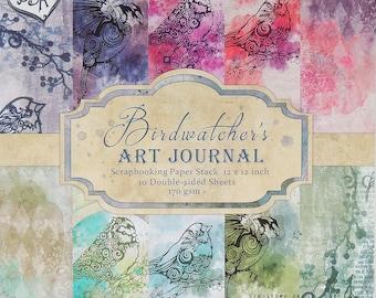 Bird Watcher's Art Journal Paper Stack/As Seen On TV