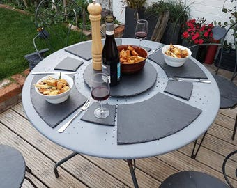Lazy Susan Cheese Board/Placemat/Coaster Set