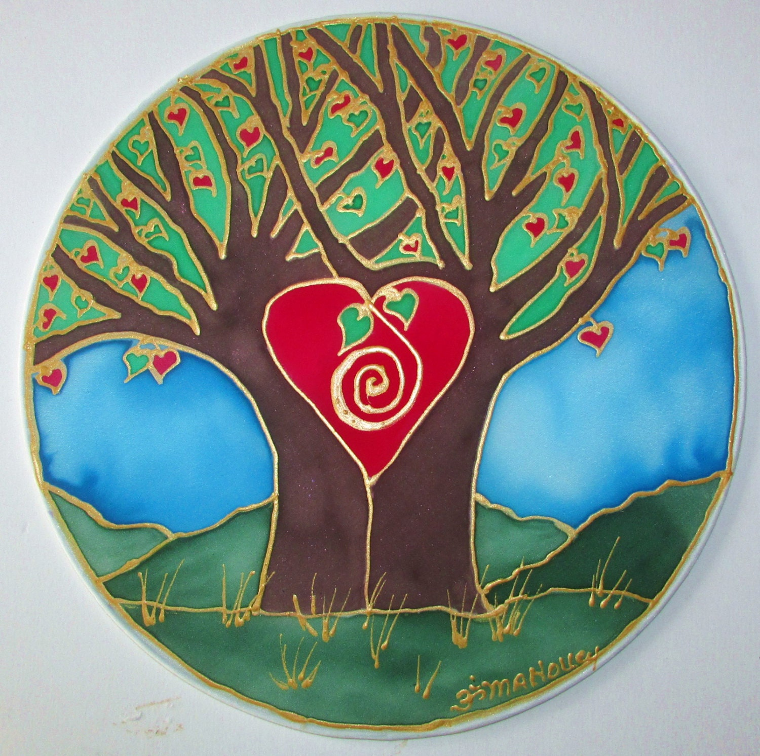 Life Of Lorin Our Wedding Tree: Tree Heart Mandala Art Wedding Gift Spiritual Gift Tree Of