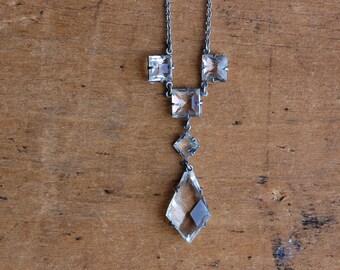 Vintage 1930s Art Deco crystal drop necklace