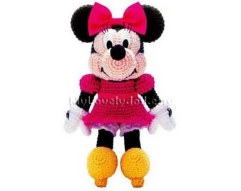 Minnie Mouse Amigurumi Crochet PDF Pattern in English