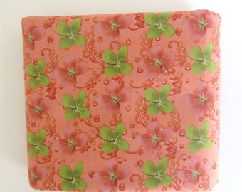 Tina Givens TG03 Hibiscus  Sweet Poppies OOP  Tangerine Lime Green 1/2 yard