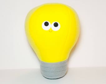 Giant Lightbulb - Plush Lightbulb - Geeky Gift - Bright Idea - Stuffed Toy -Perfect Gift - Plush Toy