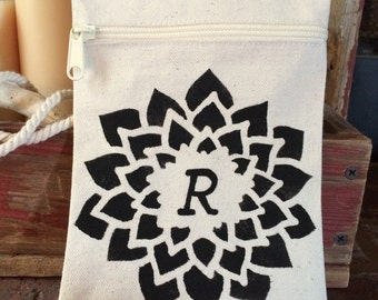 Initial Canvas Cross Body Pouch