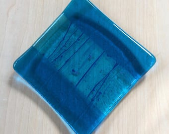 "4"" Fused Glass Plate - Coaster - Soap Dish"