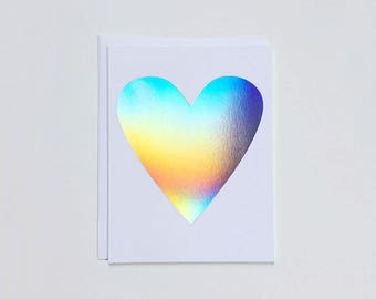 Hologram Heart Note Card