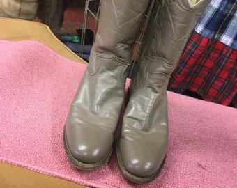 Gray Justin Boots 6 1/2 B