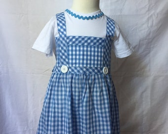 Dorothy-inspired comfy T-shirt dress (ages 2-6)