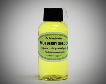 2 Oz Blueberry Seed Oil 100% Pure & Organic Cold Pressed