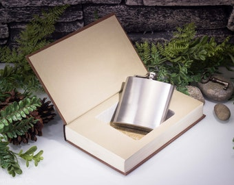 Hollow Book Safe and Hip Flask - The Fellowship of the Ring