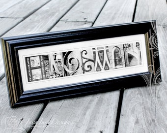 5x7 Alphabet Letter Print Choose Your Own Black And White